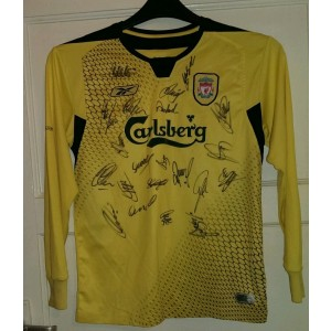 Autographed Liverpool 2005 Champions League Shirt