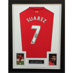 Luis Suarez Signed Liverpool Shirt