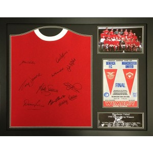 Manchester United 1968 European Cup Team Signed Shirt