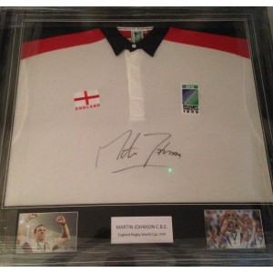 Martin Johnson Signed England Rugby Shirt