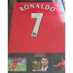 Ronaldo Signed Manchester United Shirt