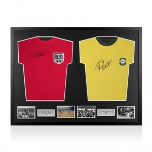 Geoff Hurst and Pele Signed Shirts