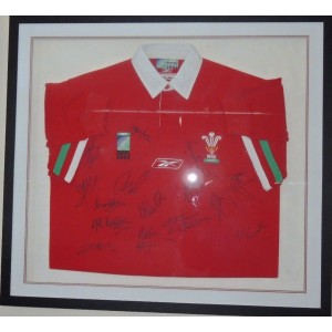 Signed Welsh Rugby Shirt 2003